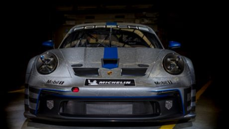The first 992 generation Porsche 911 GT3 Cup Car arrives in Australia